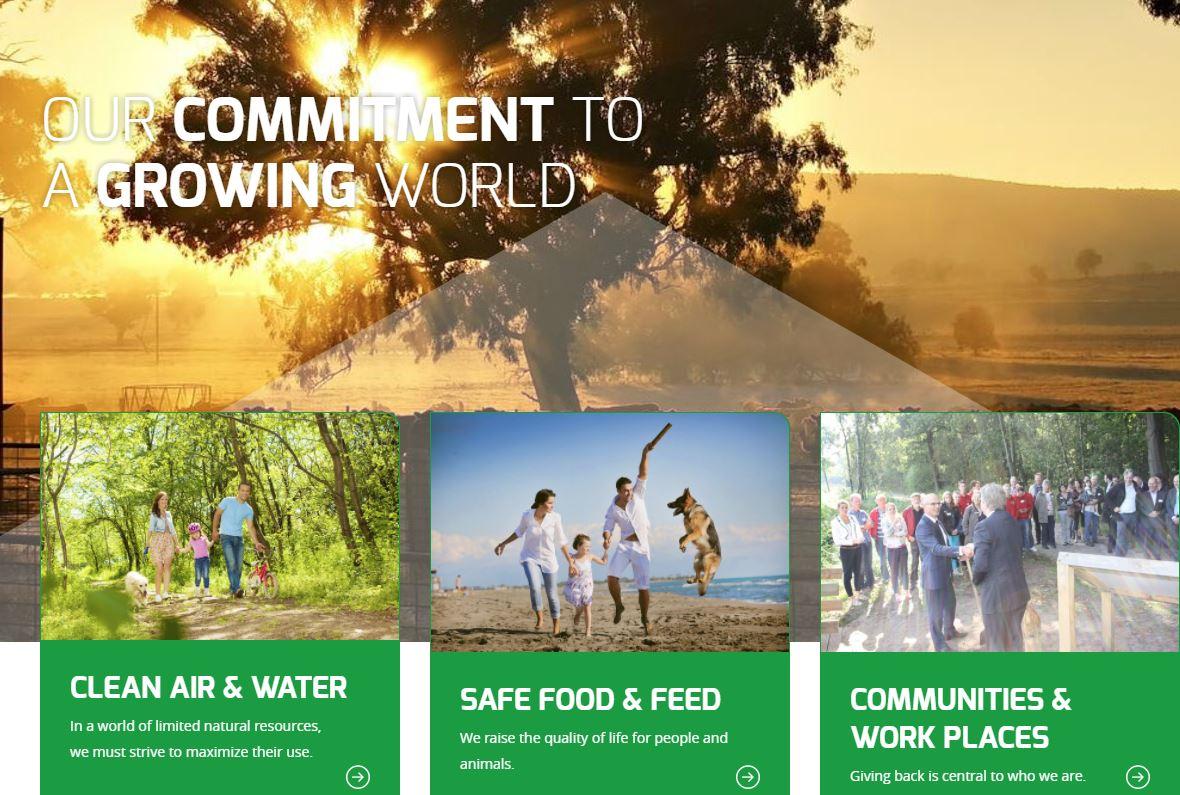 Screenshot of Darling's Sustainability website