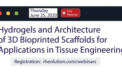 webinar hydrogels and architecture of 3D printing