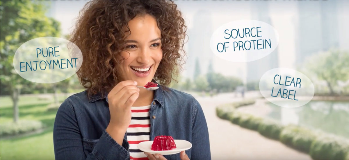 A video about how gelatin makes manufacturers and consumers happy