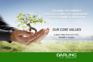 Entrepreneurship, Transparency, Integrity are Darling's core values
