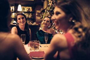 Women at restaurant table